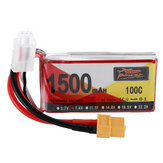 ZOP Power 7.4V 1500mAh 100C 2S Lipo Batería XT60 Enchufe para RC Racing Drone