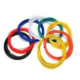 Excellway® 1007 Wire 10 Metri 20AWG 1.8mm PVC Cavo Elettronico Filo LED Isolato Per DIY