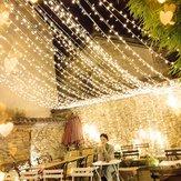 4M * 0,6M à prova d'água Branco Quente 96 LED Cortina Luz de Corda para Casamento de Natal Decoração de Feriado AC220V Decoração de Natal Apuramento Luzes de Natal