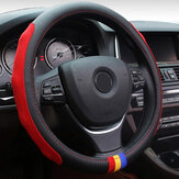 Universal 38cm Car Leather Car Steel Ring Wheel Cover Multicolours