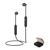 [Bluetooth 5.0] Mini Esporte Magnético Sem Fio fone de Ouvido Estéreo de Alta Fidelidade de Som Com Fio de Controle Neckband Fone de Ouvido Com Carregamento Portátil Caixa