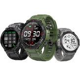 [Bluetooth-Anruf] BlitzWolf® BW-AT2C 400mAh Batterie 24-Stunden-Herzfrequenzmesser Blutdruck Sauerstoffmessung Armband Musikwiedergabe Benutzerdefinierte Uhr Gesichter Sport Style Smart Watch