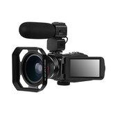 Ordro HDR-Z63 2K Ultra HD cyfrowa kamera wideo kamera WIFI Anti-shake IR widzenie nocne w podczerwieni + szeroki kąt + mikrofon + kaptur