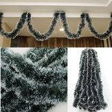 عيد الميلاد 2 متر الظلام الأخضر الشريط ديكور شجرة زخرفة زخرفة عطلة عطلة اللوازم