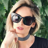 Womens Vintage Cat Eye UV400 Round Frame Sunglasses