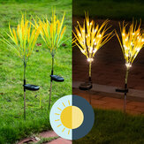 Outdoor 2pcs LED Waterproof Multi-Color Changing Grain Solar Flower Lights