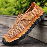 Men Outdoor Hand Stitching Quick-Drying Mesh Casual Water Shoes