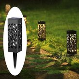 solare Power Light Sensor Hollow Out Prato lampada Impermeabile Pathway Outdoor Garden Luce del paesaggio