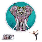 1 / 1.5m rond Yoga tapis multi-usages serviette de plage gland tapisserie couvertures antidérapantes