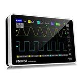 FNIRSI 1013D 7palcový digitální 2kanálový osciloskop pro tablety 100M šířka pásma 1GS / s vzorkovací frekvence 800x480 rozlišení kondenzátorová obrazovka dotyková + osciloskopy pro provoz s gesty