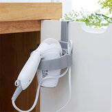 Door Hook Ring Portable Bathroom Hair Dryer Stand Organizer Hairdryer Holder Rack Plastic for Home Hotel Dormitory
