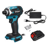 Drillpro 3 Light Brushless Electric Screwdriver Cordless Rechargeable Power Tool W/ 1/2pcs Battery Also For Makita 18V Battery