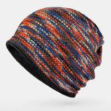 للجنسين Plus المخملية الدافئة سميكة في الهواء الطلق مختلطة اللون عارضة شخصية بريمليس قبعة صغيرة