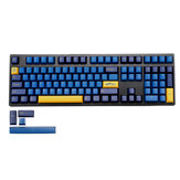 MechZone 109 Keys Blue Yellow Keycap Set OEM الملف الشخصي PBT Keycaps for 61/68/87/104/108 Keys Mechanical Keyboards