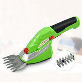 Cordless Pruning Shears Lawn Electrical Handheld Hedge Trimmer Weed Grass Clippers with Metal Blades