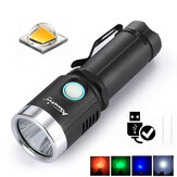 AloneFire X901 XML2 1000Lumens 6Modes 4 Color Light USB Genopladeligt LED lommelygte + Batteri + USB oplader