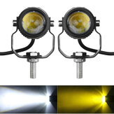 Original              2PCS Motorcycle Spot Light LED Driving Headlight Fog Driving Lamp White Waterproof
