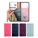 Honana HN-PB5 5 Colors Leather Passport Holder Travel Cards Case Cover Bag
