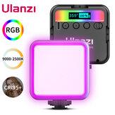Luz de vídeo Ulanzi VL49 RGB Full Color LED 2500K-9000K 800LUX Mini-luz magnética de preenchimento Estende 3 portas de sapata fria 2000mAh Type-c