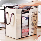 Honana HN-0828 Portable Clothes Storage Bag Non-woven Quilt Bag Pillow Blanket Closet Organizer