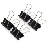 12 STUKS 19mm Metalen Zwarte Bindveerklemmen Papier Vijlgreep Klemmen