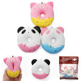 SquishyShop Cute Animals Donut 10cm Squishy Soft Lento Aumentando Com Embalagem Collection Gift Decor