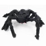 50cm-200cm Siyah Peluş Örümcek Cadılar Bayramı Dekorasyonu Ev Perili Ev Örümcek Dekoru