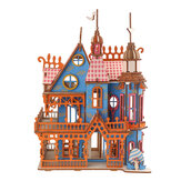 174PCS 3D Wooden Laser Cutting Dream Villa Three-dimensional Assembly Puzzle Model Educational Toys for Kids Gift