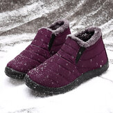 LOSTISY Dames Snow Shoes Waterproof Keep Warm Comfy Ankle Snow Boots