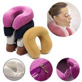 U Shape Rebound Memória Espuma Pillow Neck Protect Head Rest Travel Soft Almofada