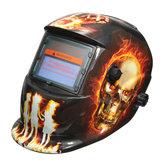 Hellfire Pattern Auto Solare Oscuramento Casco Saldatura Maschera Saldatura Arc Mig Tig Rettifica con 2 Obiettivi