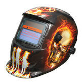 Hellfire Pattern Solar Auto Darkening Welding Helmet Weld Mask Arc Mig Tig Grinding with 2 Lens