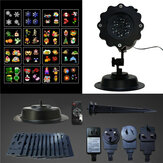 16Patterns Controle Remoto LED Stage Light Waterproof Moving Sparkling Landscape lâmpada de Halloween