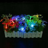Batarya Güç 2.5M 10 LED Düğün Parti Noel Dekorasyon için Fiber Periler String Işık