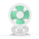 Bakeey Klip Fan USB Küçük Fan Büyük Kapasiteli Mini Masaüstü Ofis Öğrenci Fan