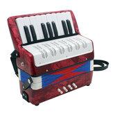 Профессиональный 17 Key Mini Аккордеон Обучающие Музыкальный Инструмент Игрушка Cadence Стандарты для Детей Детей Взрослых Подарок