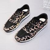 Sneakers leopardate casual traspiranti e comode da donna