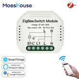 MoesHouse Tuya ZigBee3.0 Smart Light Switch Module SmartThings Required APP Remote Control Work with Alexa Google Home for Voice Control