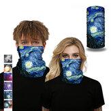 Basic Unisex 25x50cm Multifunktions-Polyester Starry Sky Digital bedrucktes Kopftuch Winddicht Staubdichter Nackenschutz Gesichtsmaske Angeln