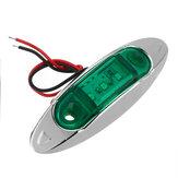 4pcs vert 3LED 24V indicateur de marqueur latéral lumière de dégagement lampe camion remorque camion van