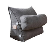 Adjustable Back Wedge Cushion Pillow Triangle Rest Reading Pillow Lumbar Office Cushion with Pocket for Home Sofa Bed