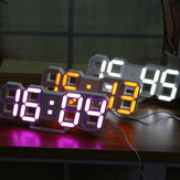 Grande moderno Digital Led scheletro Orologio da parete orologio 24/12 Ore Display 3D Gife