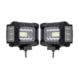3.5 Cal 72 W LED Work Light Bar Side Shooter Flood Spot Combo Beam 2 Sztuk dla Jeep Offroad ATV SUV