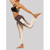Women Ethnic Style Beach Sport Bloomers Casual Loose Yoga Pants