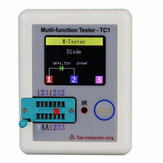 DANIU ™ LCR-TC1 1.8inch Bunte Display Multifunktionale TFT-Hintergrundbeleuchtung Transistor Tester