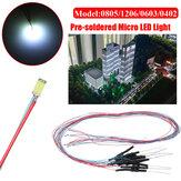 10 STKS 30 CM 0805/1206/0603/0402 Voorgesoldeerde Micro LED Licht Met Weerstand Voor Zand Tafel Model 12 V