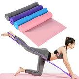 1.5 M Anti-dérapant Yoga Stretch Elastic Strap Pilates Résistance Bande Home Fitness Gym Exercise Tools