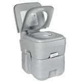 Assentos de balde de banheiro portátil 20L com descarga de banheiro móvel banheiro interno externo acampamento viagem