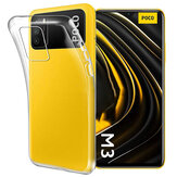 Bakeey for POCO M3 Case Crystal Clear Transparent Ultra-Thin Non-Yellow Soft TPU Protective Case