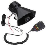 12V 3 Grabación de Sonido Coche Sirena de Policía Sirena + Micrófono Sistema de Altavoces PA Alarma de Incendio